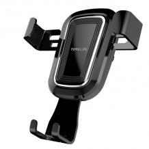 Универсална стойка за кола TOTU Gravity Car Mount за Samsung, Apple, Huawei, Lenovo, LG, HTC, Sony, Nokia, ZTE, Xiaomi - черна / въртяща се на 360 градуса