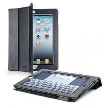 Кожен калъф за таблет Apple iPad 2, iPad 3, iPad 4 Cellualar Line Vision Essential - черен със стойка