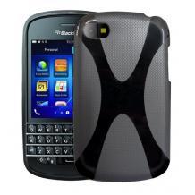 Силиконов калъф / гръб / TPU X-Line за BlackBerry Q10 - черен