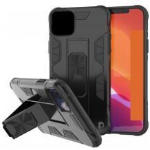 Удароустойчив гръб Hybrid Case със стойка и магнитно захващане за Samsung Galaxy S20 – черен
