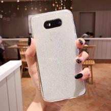 Силиконов калъф / гръб / TPU Bling за Huawei Mate 20 Pro - прозрачен / брокат