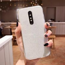 Силиконов калъф / гръб / TPU Bling за Huawei Mate 20 Lite - прозрачен / брокат