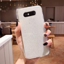 Силиконов калъф / гръб / TPU Bling за Samsung Galaxy S9 G960 - прозрачен / брокат