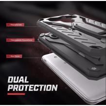Силиконов гръб TPU Armor Kickstand Case с твърда част за Huawei Y7 2019 - черен