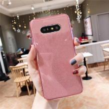 Силиконов калъф / гръб / TPU Bling за Samsung Galaxy S9 Plus G965 - прозрачен / розов / брокат