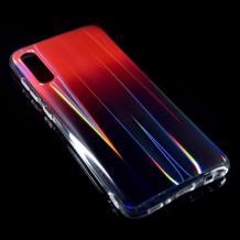Силиконов калъф / гръб / TPU Rainbow за Huawei Y7 2019 - преливащ / червен