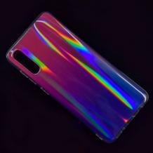 Силиконов калъф / гръб / TPU Rainbow за Huawei Y6 2019 - преливащ / розово и лилаво