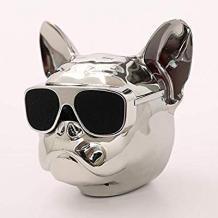 Bluetooth тонколона Dog Head / Dog Head Bluetooth Wireless Stereo Speaker - сребриста