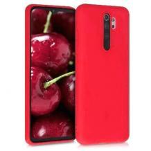 Луксозен силиконов калъф / гръб / Nano TPU за Xiaomi Redmi Note 8 Pro - червен