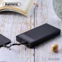 Универсална външна батерия Remax RPP-102 20000mah / Universal Dual USB Digital Display Power Bank Remax RPP-102 20000mah - черна / Radio Series