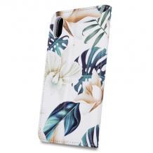 Кожен калъф Flip тефтер със стойка Trendy Book за Huawei Y5p - Orchid