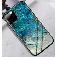 Луксозен стъклен твърд гръб за Apple iPhone 11 Pro 5.8'' - син