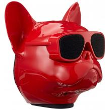 Bluetooth тонколона Dog Head / Dog Head Bluetooth Wireless Stereo Speaker - червена