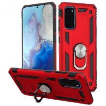 Силиконов гръб Spigen със стойка и магнитно захващане за Huawei Y5p – червен