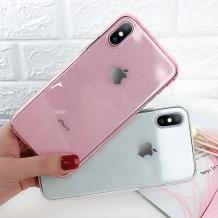 Силиконов калъф / гръб / TPU Bling за Huawei P Smart 2019 - прозрачен / розов / брокат