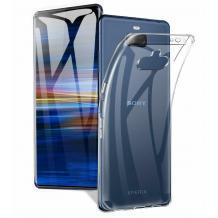 Ултра тънък силиконов калъф / гръб / TPU Ultra Thin за Sony Xperia 10 Plus - прозрачен