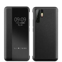 Луксозен активен калъф Smart View Cover за Huawei P30 Pro - Черен
