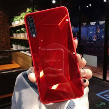Луксозен твърд гръб със силиконов кант за Samsung Galaxy A70 - червен \ призма