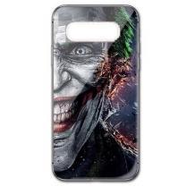 Луксозен стъклен твърд гръб за Samsung Galaxy S10 Plus - Joker face