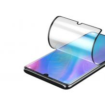 Удароустойчив протектор Full Cover / Nano Flexible Screen Protector с лепило по цялата повърхност за дисплей на Samsung Galaxy Note 10 Lite / A81 – черен