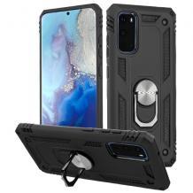 Силиконов гръб Spigen със стойка и магнитно захващане за Samsung Galaxy A41 – черен