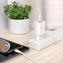 Универсално зарядно устройство 220V BOROFONE BA20A 2.1A / iOS (iPhone) кабел - черно