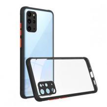 Луксозен твърд калъф / гръб Shockproof за Huawei P Smart 2021 - прозрачен / Черен кант