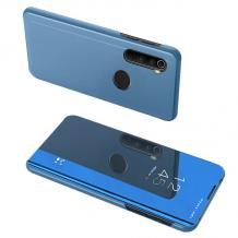 Луксозен калъф Clear View Cover с твърд гръб за Xiaomi Redmi Note 8 - син