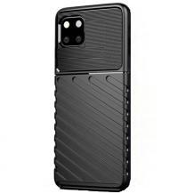 """Луксозен силиконов калъф / гръб / TPU за Apple iPhone 11 Pro Max 6.5"""" - черен / Bozzy Rugged"""