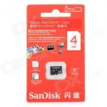 Карта памет Micro SDHC Card SanDisk 4GB Class 10