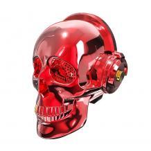 Bluetooth тонколона Skull Head / Skull Head Bluetooth Wireless Stereo Speaker - червена