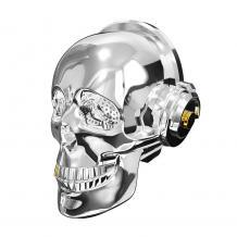 Bluetooth тонколона Skull Head / Skull Head Bluetooth Wireless Stereo Speaker - сребриста