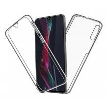 Силиконов калъф / гръб / TPU 360° за Xiaomi Redmi Note 8 - прозрачен / 2 части / лице и гръб