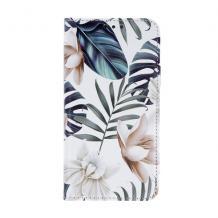 Кожен калъф Flip тефтер със стойка Trendy Book за Samsung Galaxy A21s - Orchid