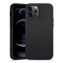 Луксозен силиконов калъф / гръб / Nano TPU за Apple iPhone 12 / 12 Pro 6.1'' - Черен