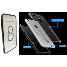 Tвърд гръб 360° със силиконова част за Lenovo Moto G5 Plus - прозрачен / черен кант / лице и гръб