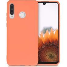 Луксозен силиконов калъф / гръб / Nano TPU за Huawei Y6p - светло оранжев