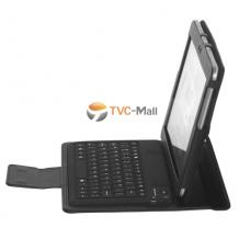 Кожен калъф за таблет със стойка и Bluetooth клавиатура + USB кабел за  Samsung Galaxy Tab 10.1'' P7500 / Samsung Galaxy Tab 2 / Tab2 10.1'' P5100 - черен