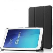 Кожен калъф за таблет Samsung Galaxy Tab E 9.6'' / T560 - черен / със стойка