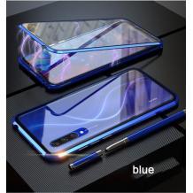 Магнитен калъф Bumper Case 360° FULL за Huawei P30 Pro - прозрачен / синя рамка