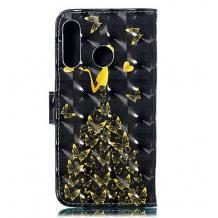 Кожен калъф Flip тефтер Flexi със стойка за Huawei Honor 20 / Huawei Nova 5T - черен / Butterfly Woman