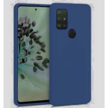 Луксозен силиконов калъф / гръб / Nano TPU за Samsung Galaxy A21s - тъмно син