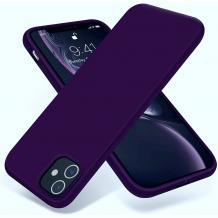"""Луксозен силиконов калъф / гръб / Nano TPU за Apple iPhone 12 Pro Max 6.7"""" - Тъмно лилав"""