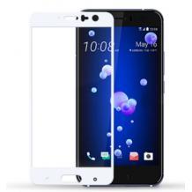 3D full cover Tempered glass screen protector HTC U11 / Извит стъклен скрийн протектор HTC U11 - бял