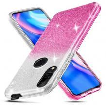 Силиконов калъф / гръб / TPU за Huawei P Smart Z / Y9 Prime 2019 - преливащ / сребристо и розово / брокат