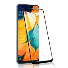 3D full cover Tempered glass Full Glue screen protector Samsung Galaxy A40 / Извит стъклен скрийн протектор с лепило от вътрешната страна за Samsung Galaxy A40 - черен
