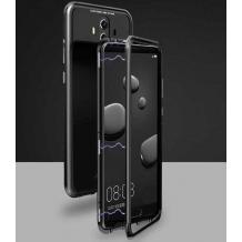 Магнитен калъф Bumper Case 360° FULL за Xiaomi Redmi Note 8 Pro - прозрачен / черна рамка