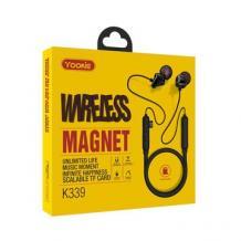 Магнитни Bluetooth Handsfree / Стерео слушалки Yookie K339 - червени