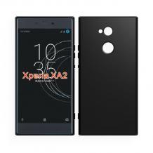 Силиконов калъф / гръб / TPU за Sony Xperia XA2 - черен