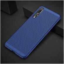 Луксозен твърд гръб за Xiaomi Mi A3 - син / Grid
